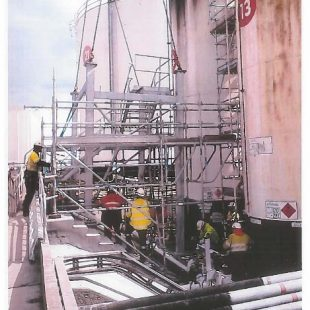 Safety supervision of new structure at oil terminal