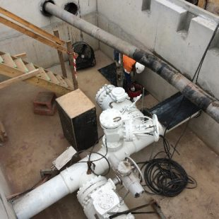 Safety supervision provided for this large valve pit installation