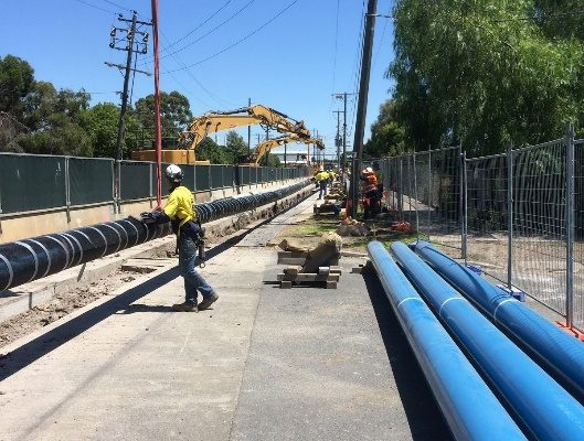 Opeam provided safety supervision and work permitting for a new fuel pipeline installation in Melbourne